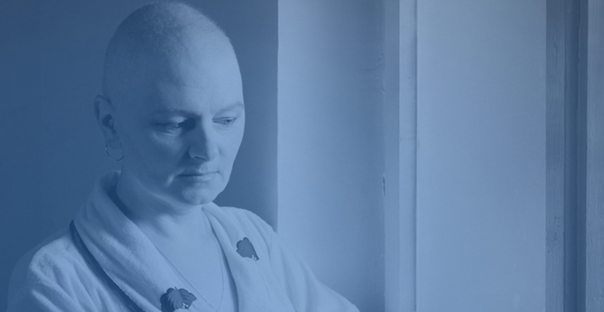Picture of bald women after chemotherapy